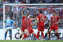 August 2, 2017 - Munich, Germany - Emanuele Giaccherini of Napoli scoring the goal of 0-2 during the Audi Cup 2017 match between SSC Napoli v FC Bayern Muenchen at Allianz Arena on August 2, 2017 in Munich, Germany. (Credit Image: © Matteo Ciambelli/NurPhoto via ZUMA Press)