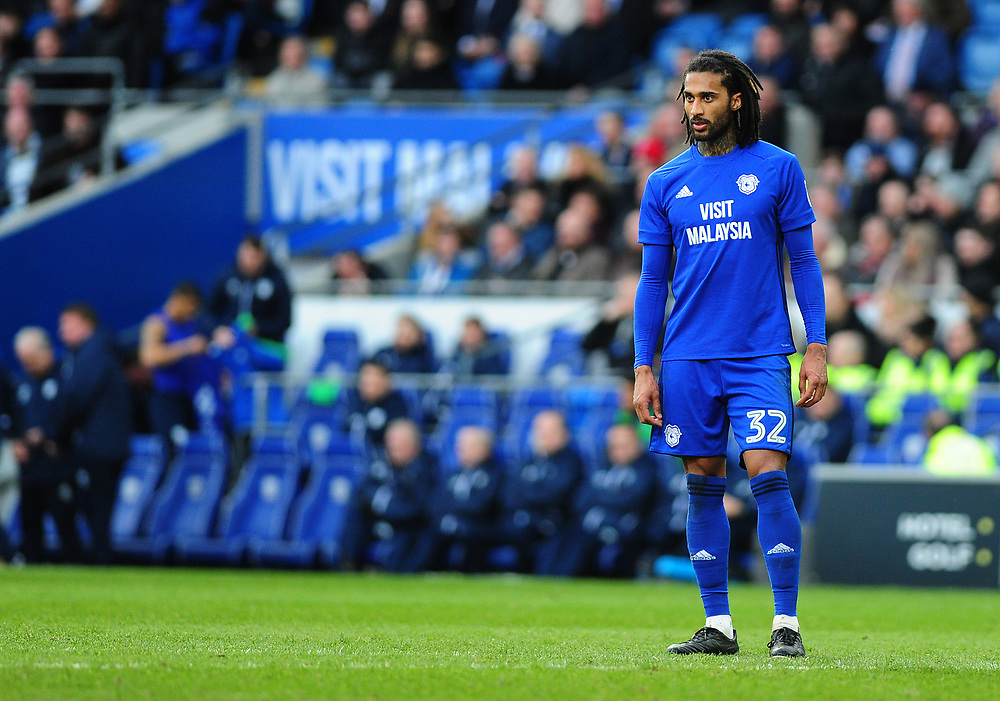 Cardiff City's Armand Traore<br /> <br /> Photographer Ashley Crowden/CameraSport<br /> <br /> The EFL Sky Bet Championship - Cardiff City v Middlesbrough - Saturday 17th February 2018 - Cardiff City Stadium - Cardiff<br /> <br /> World Copyright © 2018 CameraSport. All rights reserved. 43 Linden Ave. Countesthorpe. Leicester. England. LE8 5PG - Tel: +44 (0) 116 277 4147 - admin@camerasport.com - www.camerasport.com