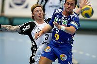 Håndball , 8. oktober 2008 , Champions League , Drammen HK - Kiel<br /> Handball<br /> Børge Lund , Börge Lund , Kiel og Olav Hovind , DHK