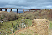 The Kells Viaduct on the Ring of Kerry where the Dublin to Cahersiveen train passed by Dingle Bay. The last train to cross the bridge was in 1960. The route is one of the proposed 'greenway routes' for walkers and cyclists.<br /> Picture by Don MacMonagle.