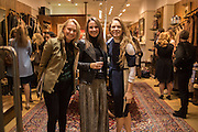 SOPHIE FAIRCLOUGH; CLARE SCHIFANO; SOPHIE WILSON; , Tatler and Dubarry host an evening with Clare Balding, Dubarry of Ireland, 34 Duke of York's Sq. London. 13 October 2016.