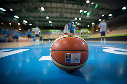 Ball at practice session of team Greece 1 day before the beginning of Eurobasket 2013 on September 3, 2013 in Arena Bonifika, Koper, Slovenia. (Photo by Matic Klansek Velej / Sportida.com)