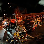 A firetruck slammed into this pole at the intersection of 7th Avenue and West 10th Street in the West Village on Saturday, November 22, 2008. FDNY victims were treated and rushed to local hospital. I heard over the scanners they were on their way to a kitchen fire.