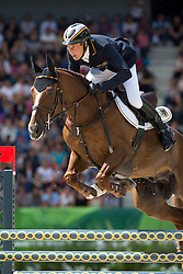 Dirk Schrade, (GER), Hop And Skip - Jumping Eventing - Alltech FEI World Equestrian Games™ 2014 - Normandy, France.<br /> © Hippo Foto Team - Leanjo De Koster<br /> 31-08-14