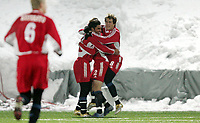 Fotball , 9. mars 2006 , Royal League , Vålerenga - Djurgården  <br /> Tobias Hysen , Abgar Barson og Stefan Bergtoft , Djurgården jubler etter scoring