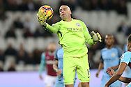 Goalkeeper Wilfredo Caballero of Manchester City in action. Premier league match, West Ham Utd v Manchester city at the London Stadium, Queen Elizabeth Olympic Park in London on Wednesday 1st February 2017.<br /> pic by John Patrick Fletcher, Andrew Orchard sports photography.