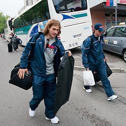 20110428: SLO, Ice Hockey - Departure of Slovenian Team to IIHF 2011 World Championship Bratislava