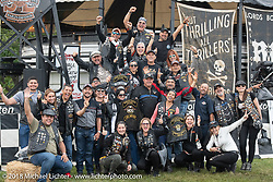William Bolivar, the general manager of Harley-Davidson Medellín, Columbia, brought a group of HOG members to the Harley-Davidson 115 anniversary celebration. Shown here at Rhett Rotten's Wall of Death at the HOG Moto-Carnival in Veterans Park. Milwaukee, WI. USA. Wednesday August 29, 2018. Photography ©2018 Michael Lichter.