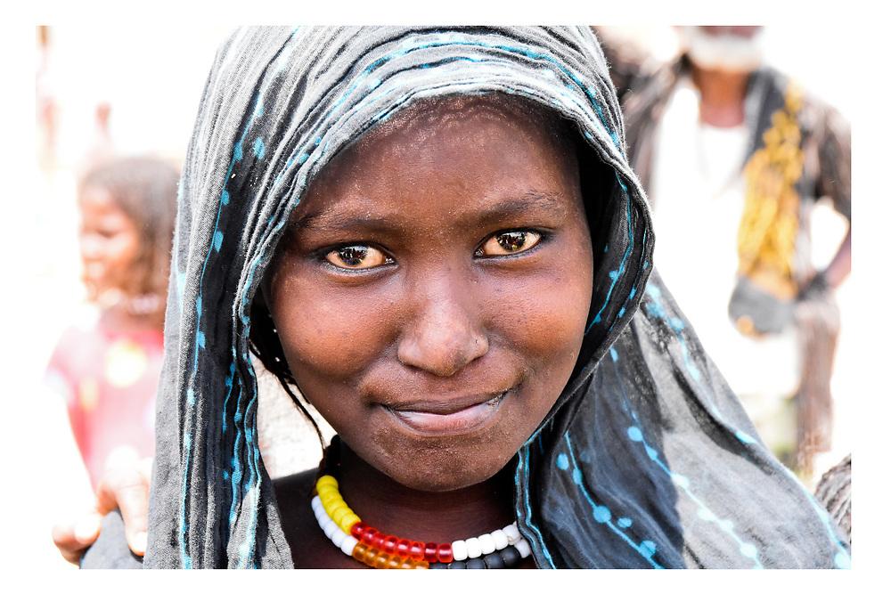 Young Afar woman in Asaita Refugee Camp, Afar, Ethiopia 2016