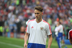 June 14, 2018 - Moscow, Russia - Russian Federation. Moscow. The Luzhniki Stadium. Match Opening of the World Cup 2018. Russia - Saudi Arabia. Solemn opening ceremony of the FIFA World Cup 2018. FIFA World Cup 2018. Player of the Russian national football team (in red).Anton Miranchuk. (Credit Image: © face to face via ZUMA Press)