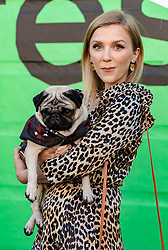 Cast and crew attend a special screening of Patrick at the Edinburgh International Film Festival.<br /> <br /> Directed by Maddie Fletcher it stars Beattie Edmondson<br /> <br /> Pictured: Beattie Edmondson (Sarah Francis) with Harley the dog