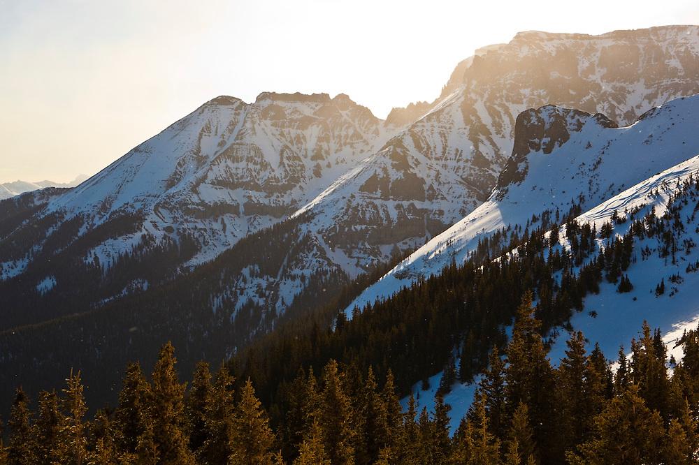 Whitehouse Mountain at sunrise, San Juan Mountains, Colorado.