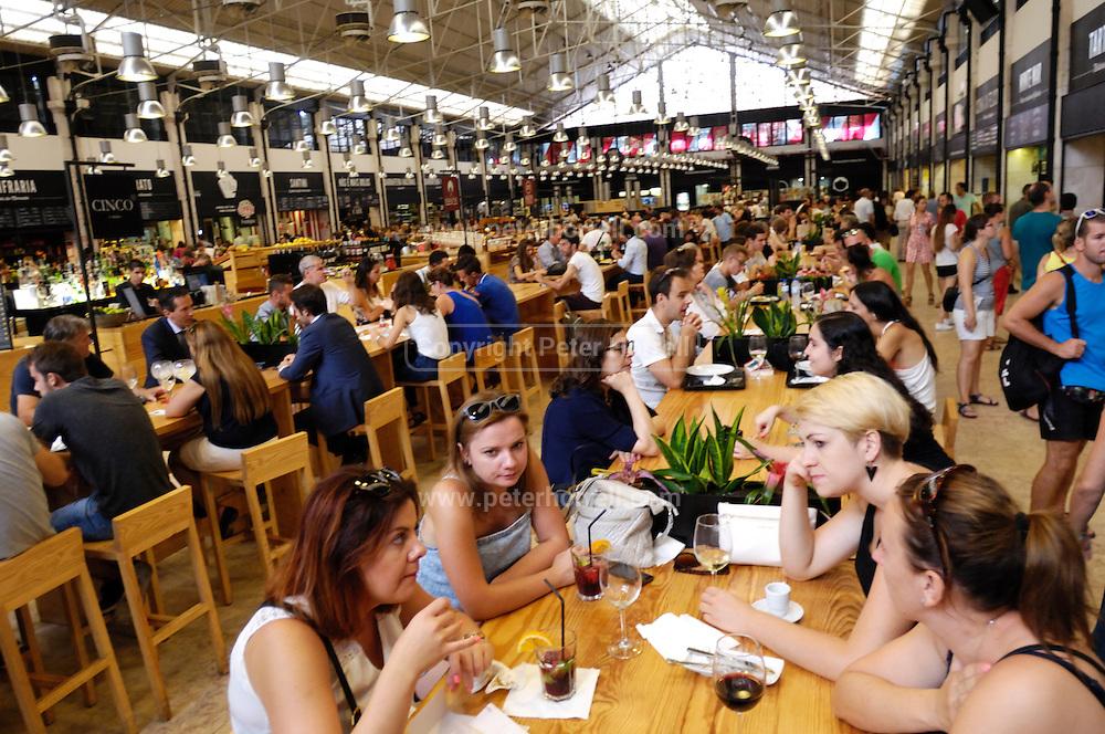 Time Out Mercado da Ribeira food court at Cais do Sodré.