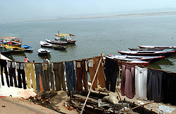 Indians wash clothes along  the holy Ganges river December 10, 2001 in Varanasi, India.  The late George Harrison, a longtime devotee of Hinduism, reportedly left over a million dollars to build a temple in the holy city of Varanasi  according to Hare Krishna devotees. The news came as hundreds of Harrison fans still waited expectantly by the banks of the River Ganges for his ashes to arrive, amid confusion on how they were to be scattered. (Ami Vitale/Getty Images)