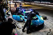 November 14, 2020. IMSA Weathertech Mobil1 Sebring 12h: #16 Wright Motorsports, Porsche 911 GT3 R, Ryan Hardwick, Patrick Long, Jan Heylen pitstop