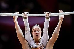 November 2, 2018 - Doha, Qatar - Nina Derwael of Belgium   during  Uneven Bars for Women at the Aspire Dome in Doha, Qatar, Artistic FIG Gymnastics World Championships on 2 of November 2018. (Credit Image: © Ulrik Pedersen/NurPhoto via ZUMA Press)