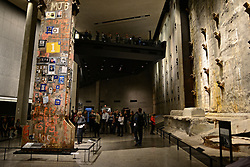 Oct 11, 2015 - New York, New York, U.S. - 911 Memorial Museum. Original foundation wall concrete Twin Towers. (Credit Image: © Kike Calvo/ZUMA Wire/ZUMAPRESS.com)