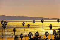 Ledbetter Beach (Channel Islands in background), Santa Barbara, California USA.