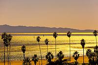 Ledbetter Beach (Channel Islands in background), Santa Barbara, California USA.
