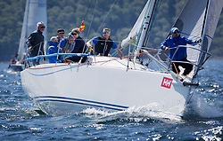 Sailing - SCOTLAND  - 25th-28th May 2018<br /> <br /> The Scottish Series 2018, organised by the  Clyde Cruising Club, <br /> <br /> First days racing on Loch Fyne.<br /> <br /> GBR9470R, Banshee, Charlie Frize, CCC, Corby 33.<br /> <br /> Credit : Marc Turner<br /> <br /> <br /> Event is supported by Helly Hansen, Luddon, Silvers Marine, Tunnocks, Hempel and Argyll & Bute Council along with Bowmore, The Botanist and The Botanist