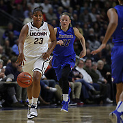 Kaleena Mosqueda-Lewis, UConn, in action during the UConn Vs DePaul, NCAA Women's College basketball game at Webster Bank Arena, Bridgeport, Connecticut, USA. 19th December 2014