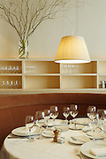 Photos of food and interiors at Annisa restaurant in New York City