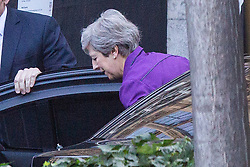 © Licensed to London News Pictures. 05/09/2019. London, UK. Former Prime Minister Theresa May arrives in Parliament. Later Today Prime Minister Boris Johnson will travel to Yorkshire to make a speech. Photo credit: George Cracknell Wright/LNP