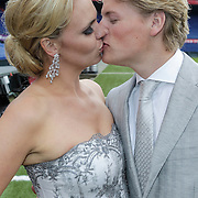 NLD/Rotterdam/20120615 - Verkiezing Miss Zuid-Holland 2012, tomas Berge en partner Myrthe Mylius