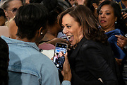 Senator Kamala Harris greets supporters following a town hall meeting during her campaign for the Democratic presidential nomination February 15, 2019 in North Charleston, South Carolina. South Carolina is the first southern democratic primary for the presidential race.