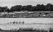 Nottingham. United Kingdom. <br /> <br /> GB Masters Championships, National Water Centre, Holme Pierrepont<br /> <br /> Saturday   10/06/2017<br /> <br /> <br /> [Mandatory Credit Peter SPURRIER/Intersport Images] Crew approaching the finish line, during the competition.