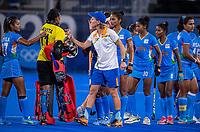 TOKIO -  assistent-coach Janneke Schopman (IND)  na de wedstrijd dames , Nederland-India (5-1) tijdens de Olympische Spelen   .   COPYRIGHT KOEN SUYK