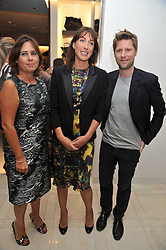Left to right, Editor of Vogue ALEXANDRA SHULMAN, SAMANTHA CAMERON and CHRISTOPHER BAILEY at a reception hosted by Vogue and Burberry to celebrate the launch of Fashions Night Out - held at Burberry, 21-23 Bond Street, London on 10th September 2009.