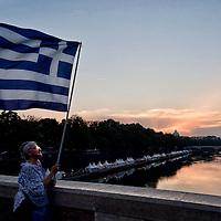 Manifestazione  in sostegno del No al referendum in Grecia