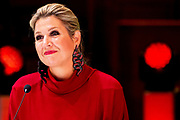 UTRECHT, 07-10-2020, TivoliVredenburg<br /> <br /> Koningin Maxima aanwezig bij de lancering van het Muziekopleidersakkoord, Meer Muziek in de Klas, in TivoliVredenburg te Utrecht. De Koningin zal buiten een Onthulling van projectie muzikale jeugdfoto's bijwonen.<br /> <br /> Queen Maxima present at the launch of the Music Educators Agreement, More Music in the Classroom, in TivoliVredenburg in Utrecht. The Queen will attend a Unveiling of projection musical youth photos.
