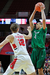 NORMAL, IL - December 16: Seth Millner grabs a rebound in front of Matt Chastain during a college basketball game between the ISU Redbirds and the Cleveland State Vikings on December 16 2018 at Redbird Arena in Normal, IL. (Photo by Alan Look)