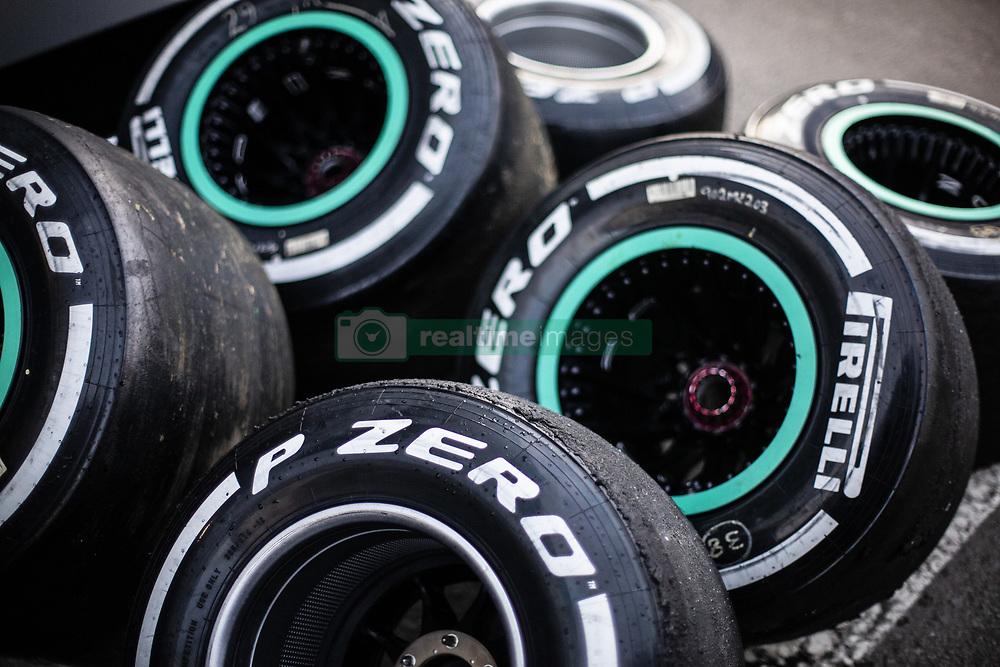February 26, 2019 - Barcelona, Catalonia, Spain - Pirelli tyres during the Formula 1 2019 Pre-Season Tests at Circuit de Barcelona - Catalunya in Montmelo, Spain on February 26. (Credit Image: © Xavier Bonilla/NurPhoto via ZUMA Press)