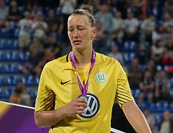 May 24, 2018 - Kiev, Ukraine - Dejected Almuth Schult goalkeeper of VFL Wolfsburg.during the UEFA Women's Champions League Final match between VFL Wolfsburg and Olympique Lyonnais  at Kyiv, Ukraine on 24 May 2018. (Credit Image: © Kieran Galvin/NurPhoto via ZUMA Press)