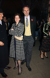 MOLLIE DENT-BROCKLEHURST and WILLIAM CASH at the wedding of Clementine Hambro to Orlando Fraser at St.Margarets Westminster Abbey, London on 3rd November 2006.<br /><br />NON EXCLUSIVE - WORLD RIGHTS
