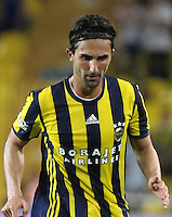 UEFA Europa league Playoff first leg match between Fenerbahce and Grasshoppers at Ulker Stadium in Istanbul on August 18 , 2016.<br /> Final Score : Fenerbahce 3 - Grasshoppers 0<br /> Pictured:  Hasan Ali Kaldirim of Fenerbahce .