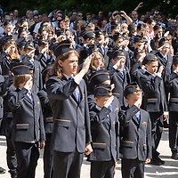 Inauguration ceremony of newcomers at the Children's Railway in Budapest, Hungary on June 1, 2019. ATTILA VOLGYI