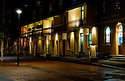 Nightime street scene, The Rocks, Sydney, Australia