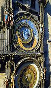 The Prague Astronomical Clock or Orloj, Prague, Czech Republic