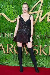 © Licensed to London News Pictures. 04/12/2017. London, UK. EVA HERZIGOVA arrives for The Fashion Awards 2017 held at the Royal Albert Hall. Photo credit: Ray Tang/LNP