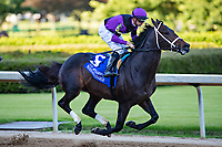 HOT SPRINGS, AR - MAY 02:  Jockey Florent Geroux rides #6 Warrior's Charge to the lead at the start of The Oaklawn Handicap at Oaklawn Racing Casino Resort on Derby Day during the Covid-19 Pandemic on May 2, 2020 in Hot Springs, Arkansas. (Photo by Wesley Hitt/Getty Images)