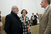 Michelangelo Pistoletto; lucia Pietroiusti;; Hans-Ulrich Obrist, Michelangelo Pistoletto: The Mirror of Judgement, Serpentine Gallery. Lond11 July 2011. on. <br /> <br />  , -DO NOT ARCHIVE-© Copyright Photograph by Dafydd Jones. 248 Clapham Rd. London SW9 0PZ. Tel 0207 820 0771. www.dafjones.com.