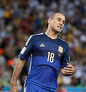 Argentina's Rodrigo Palacio during the 2014 FIFA World Cup Final match at Maracana Stadium, Rio de Janeiro<br /> Picture by Andrew Tobin/Focus Images Ltd +44 7710 761829<br /> 13/07/2014