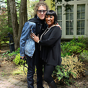 """Legendary rock photographer Mick Rock travels to the home of  the """"Godmother of Soul"""", Patti LaBelle during the taping of his upcoming network series On the Record with Mick Rock,  premiering on Ovation TV. (Photo by Lisa Lake/Getty Images for Ovation TV)"""