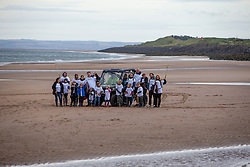 Group pic with the ATV's. SSE Renewables doing the beach clean in Carnoustie on Saturday morning.