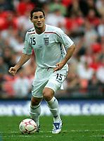Photo: Tom Dulat.<br /> England v Estonia. UEFA European Championships Qualifying. 13/10/2007.<br /> Frank Lampard of England with the ball.