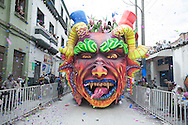 """A float through the city on the last day of the festival, the socalled """"Desfile Magno"""". After a week of celebration and themed parades, the Carnival of Blancos y Negros tradition of the city of Pasto, in the south of Colombia, concludes with a long parade of floats and figures that is a veritable tribute to the creativity."""